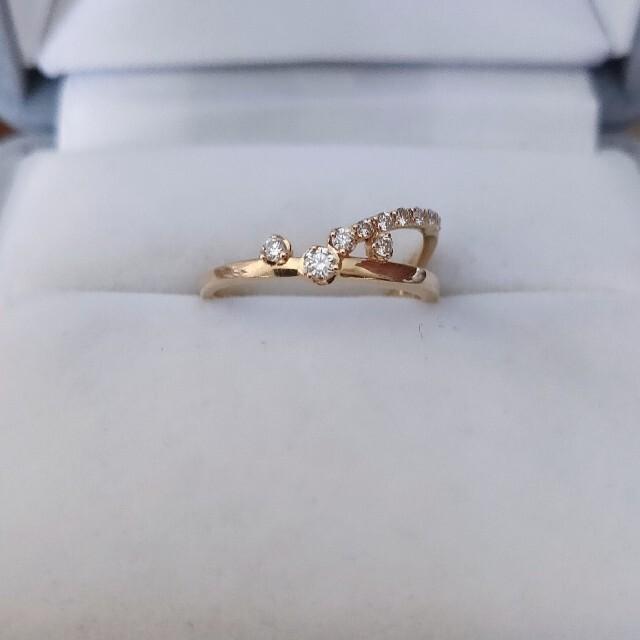STAR JEWELRY(スタージュエリー)のスタージュエリー ダイヤモンド リング K18YG 0.10ct レディースのアクセサリー(リング(指輪))の商品写真