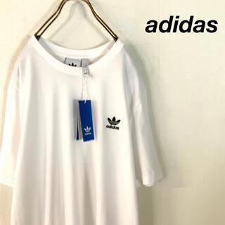 adidas - 【新品 希少サイズ】adidas オーバーサイズ ワンポイント tシャツ WH