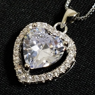 ☆最高級品質☆大人気☆ハート型3ctモアサナイトダイヤモンド☆