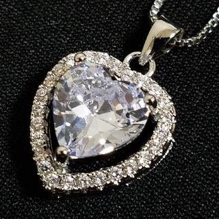 ☆最高級品質☆大人気☆ハート型☆3ct☆モアサナイト☆ダイヤモンド☆(ネックレス)