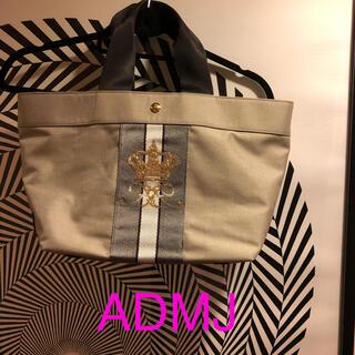 A.D.M.J. - ADMJ  トート ナイロン スパンコールクラウン刺繍