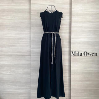 Mila Owen - Mila Owen ミラオーウェン ベルト付きノースリニットワンピース