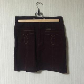 カルバンクライン(Calvin Klein)のカルバンクライン ボルドー コーデュロイ ミニスカート(ミニスカート)
