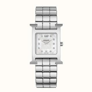 エルメス(Hermes)のエルメス HERMES Hウォッチ 2.1×2.1 ステンレス(腕時計)
