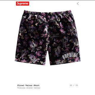 シュプリーム(Supreme)の19FW supreme floral-velour-short Mサイズ(ショートパンツ)