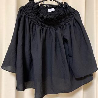 グレイル(GRL)のGRL オフショル2wayトップス ブラック(カットソー(半袖/袖なし))
