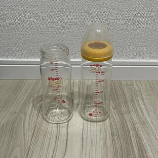 ピジョン(Pigeon)の⑦ Pigeon  哺乳びん(耐熱ガラス製)240ml ×2 (※乳首無し)(哺乳ビン)