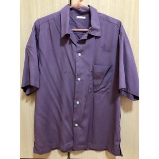 GU - GU オープンカラーシャツ(5部袖)