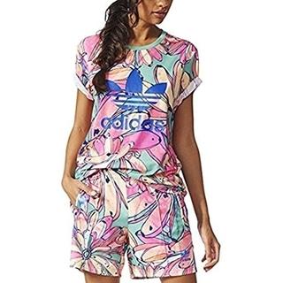 adidas - ファーム フローラル ボタニカル セットアップ 花柄 半袖Tシャツ パンツ レア