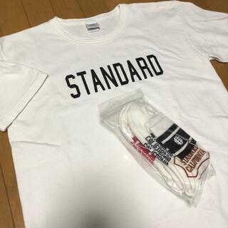 STANDARD CALIFORNIA - スタンダードカリフォルニア tシャツL 新品靴下セット
