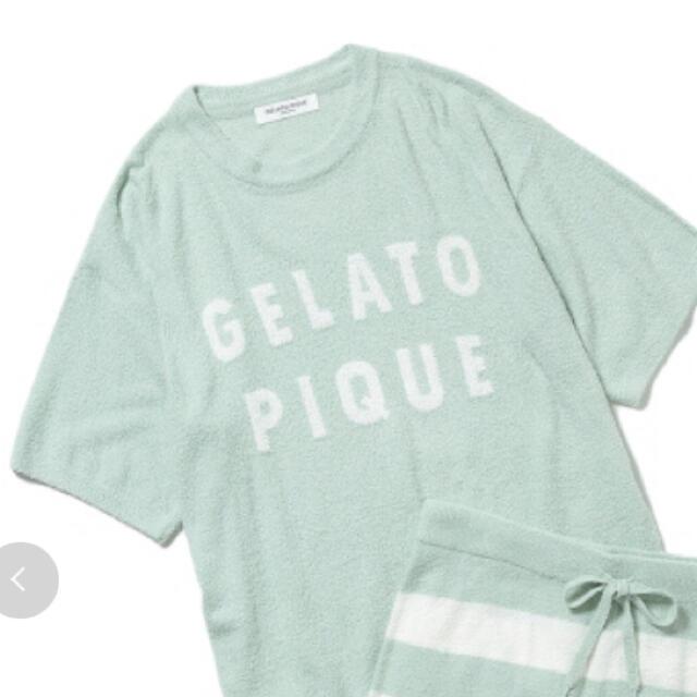 gelato pique(ジェラートピケ)の訳あり gelato pique ロゴジャガードプルオーバー&ショートパンツ レディースのルームウェア/パジャマ(ルームウェア)の商品写真