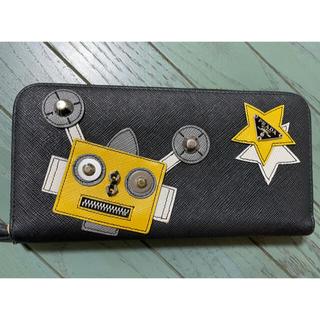 PRADA - 正規品 美品 PRADA 長財布 プラダ ロボット ラウンジファスナー