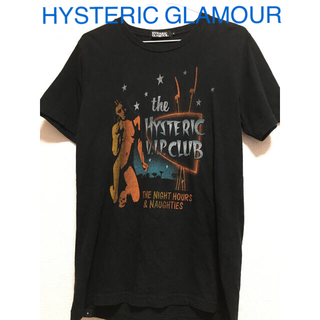 HYSTERIC GLAMOUR - HYSTERIC GLAMOUR VIPCLUB ガールプリントTシャツ