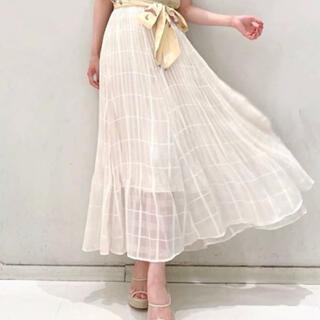 Lily Brown - リリーブラウン シアーチェックプリーツスカート