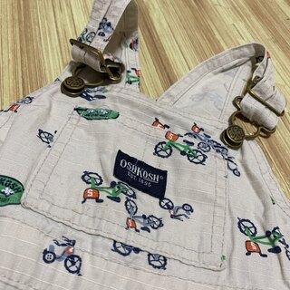 OshKosh - オシュコシュ 自転車柄 オーバーオール サロペット 半ズボン