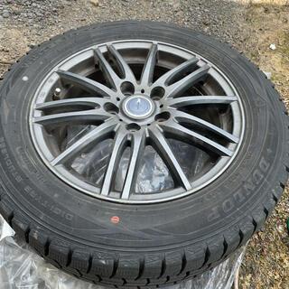 ダンロップ(DUNLOP)のスダッドレスタイヤ、ホイール付き.16インチ(タイヤ・ホイールセット)