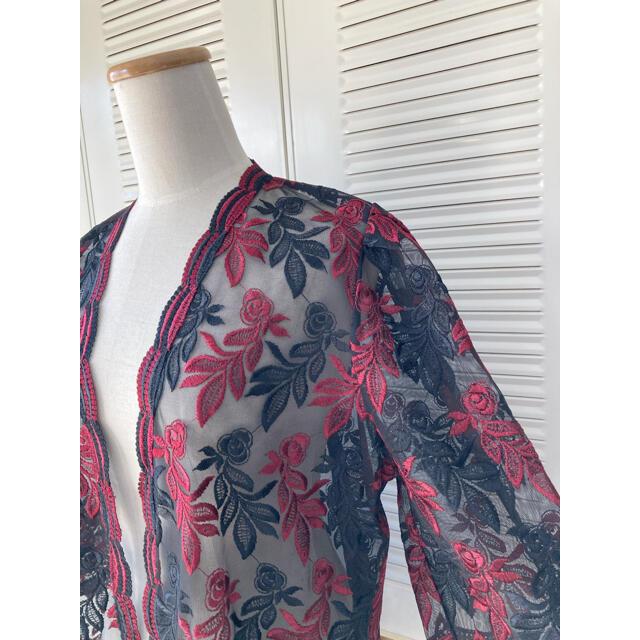 Grimoire(グリモワール)の古着 レトロ  ヴィンテージ  used  総レース シャツ はおり 羽織り レディースのトップス(シャツ/ブラウス(長袖/七分))の商品写真