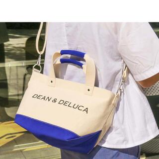 DEAN & DELUCA - DEAN & DELUCA キャンバストートバッグ ブルー&ナチュラル Sサイズ