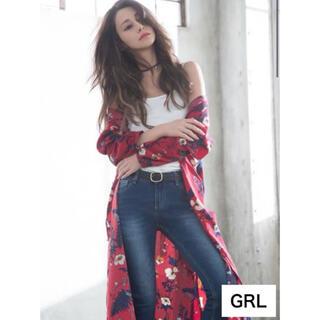 グレイル(GRL)の【 GRL】花柄ワンピース カーディガン タグつき(カーディガン)