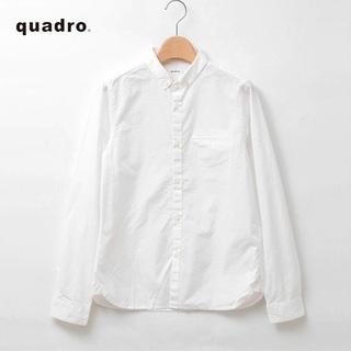 MARGARET HOWELL - quadro✨クオドロ 高密度ダンプ シャンブレー ちび襟 ボタンダウンシャツ
