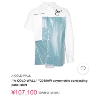 COMME des GARCONS - 【半額以下】a-cold-wall* シャツ Lサイズ アコールドウォール