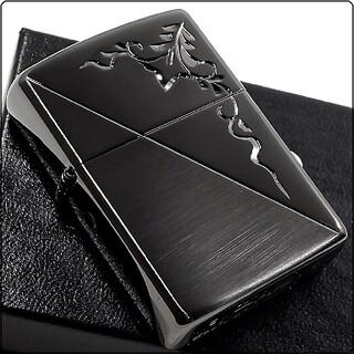 ZIPPO - 『送料無料』新品 ZIPPO◇手彫りアラベスク ブラックハーフ仕上げ ジッポ