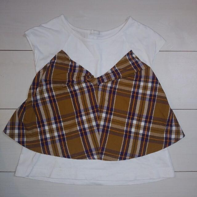 GU(ジーユー)のGU ジーユー Tシャツ 130cm キッズ/ベビー/マタニティのキッズ服女の子用(90cm~)(Tシャツ/カットソー)の商品写真