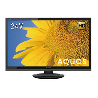 シャープ(SHARP)のSHARP 24V型 液晶 テレビ AQUOS ハイビジョン 外付HDD対応(テレビ)