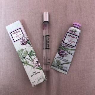 ロクシタン(L'OCCITANE)のロクシタン香水•ハンドクリームセット(香水(女性用))