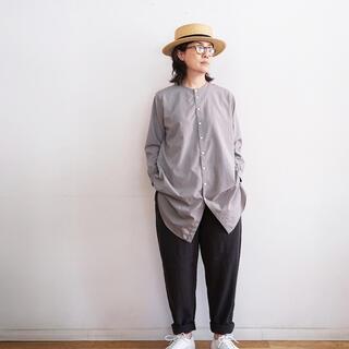 ムジルシリョウヒン(MUJI (無印良品))の無印良品 ゆっくり織り 自然に仕上げたワイドアンクルパンツ(カジュアルパンツ)