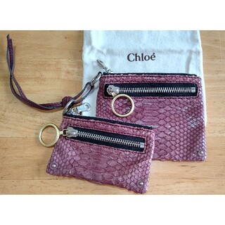 クロエ(Chloe)のChloe クロエ パイソン ヘビ革 ダブルウォレット 財布(財布)