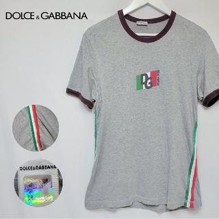 ドルチェアンドガッバーナ(DOLCE&GABBANA)のDOLCE&GABBANA ドルガバ ブランドロゴ 3本ライン 半袖 Tシャツ(Tシャツ/カットソー(半袖/袖なし))