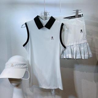 マークアンドロナ(MARK&LONA)の韓国【MARK&LONA】 襟付きリボン付き トップス レディース ゴルフウェア(ウエア)