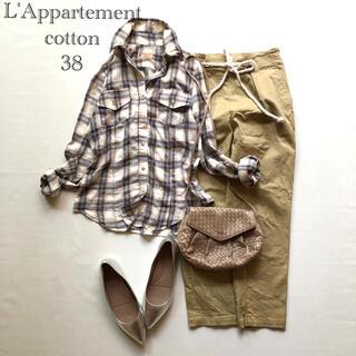 L'Appartement DEUXIEME CLASSE - 193アパルトモンドゥーズィエムクラス チェックワイヤー襟コットンシャツ38