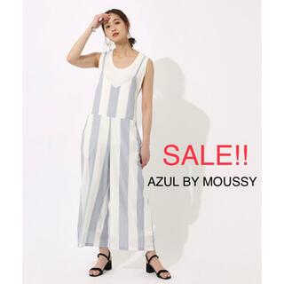 アズールバイマウジー(AZUL by moussy)の【新品未着用】AZUL BY MOUSSY BIG STRIPE オールインワン(オールインワン)