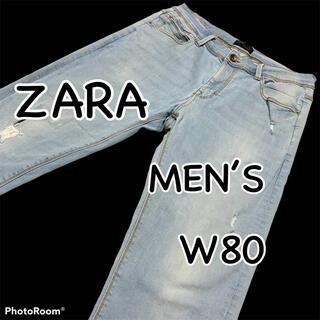 ZARA - ZARA MAN ザラ ダメージ加工 強ストレッチ USA34 ウエスト80cm