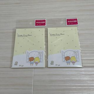 リトルツインスターズ - リトルツインスターズ ダイカット封筒 2個セット キキララ サンリオ 日本製