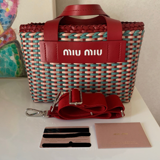 miumiu - miumiu かごバッグ