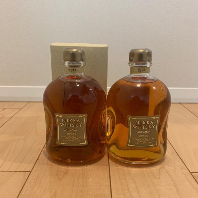 ニッカウヰスキー(ニッカウイスキー)のニッカ オールモルト ハーフボトル 375ml 43% 未開栓 箱付き 食品/飲料/酒の酒(ウイスキー)の商品写真