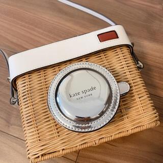 kate spade new york - ケイトスペード カゴバッグ カメラ(ホワイト)