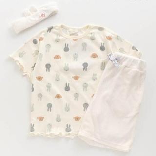 BREEZE - ホワイト90 ミッフィー ベビー服 パジャマ 上下セット