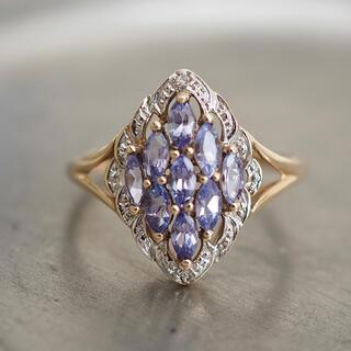 agete - イギリス🇬🇧アンティークリング タンザナイト×ダイヤモンド 菱形*agete