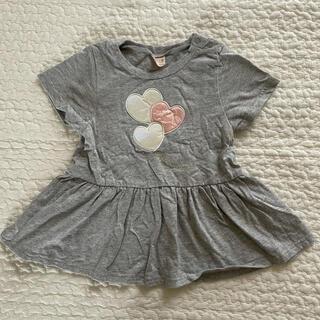 petit main - 【未使用に近い】パートペプラム半袖Tシャツ 90