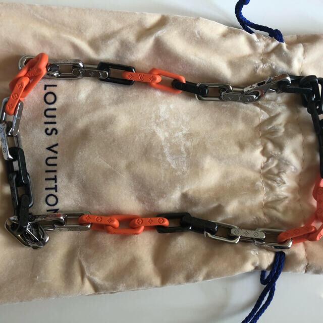 LOUIS VUITTON(ルイヴィトン)のルイヴィトン コリエ モノグラム チェーン ネックレス メンズ 21FW メンズのアクセサリー(ネックレス)の商品写真