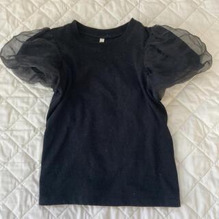 GU - GU パフスリーブTシャツ ノースリーブトップス 2枚 ジーユー