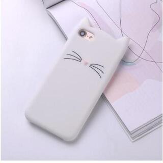 【白猫】 カバー iPhone7/8 ケース カバー シリコン