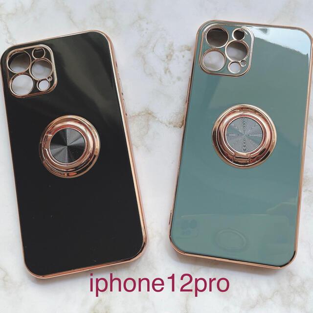 iphoneケース iphone12プロ グレー スマホケース 落下防止 新品 スマホ/家電/カメラのスマホアクセサリー(iPhoneケース)の商品写真