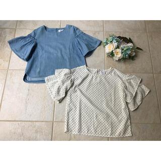 ベベ(BeBe)の女の子ブラウスまとめて2着 130サイズ(Tシャツ/カットソー)