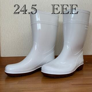 ミドリアンゼン(ミドリ安全)の白いゴム長靴(レインブーツ/長靴)