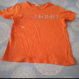 ベベ(BeBe)のべべ Tシャツ オレンジ (Tシャツ/カットソー)
